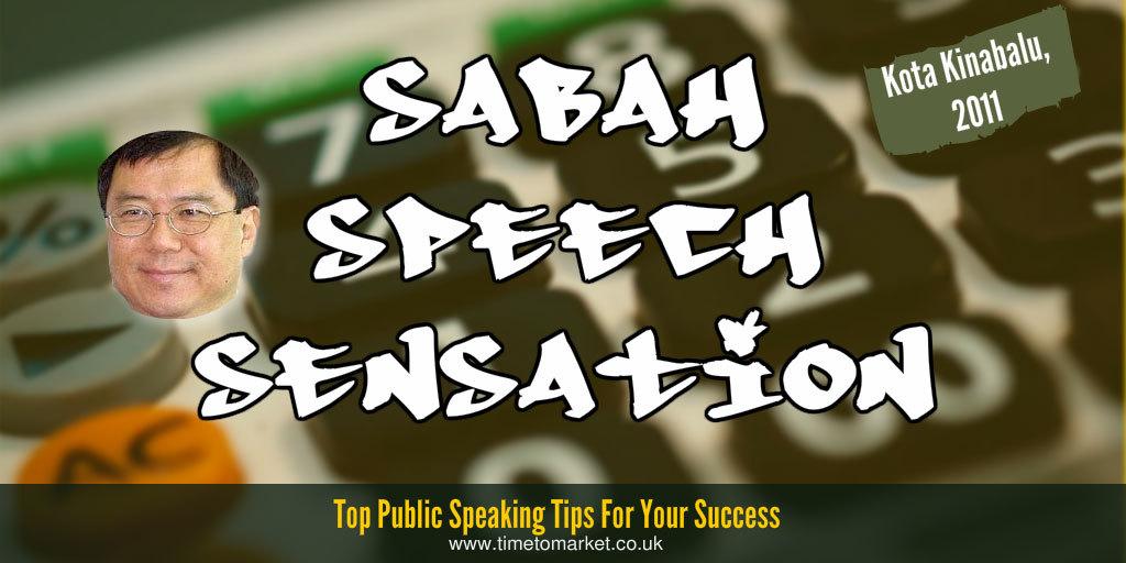 Sabah speech sensation