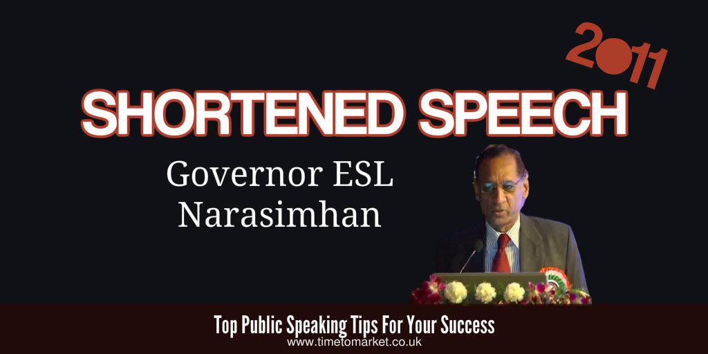 Shortened speech