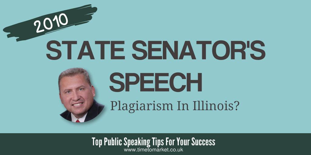 State senator's speech