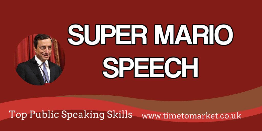 Super Mario speech