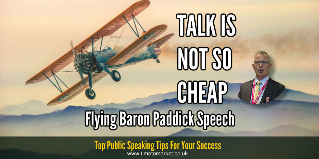Talk is not so cheap