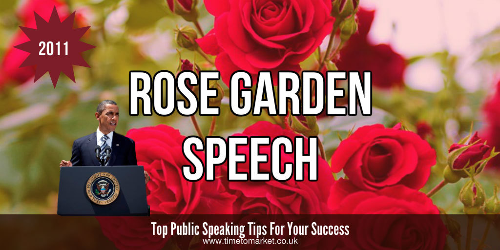 Rose garden speech
