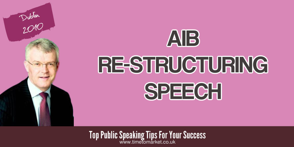 AIB re-structuring speech