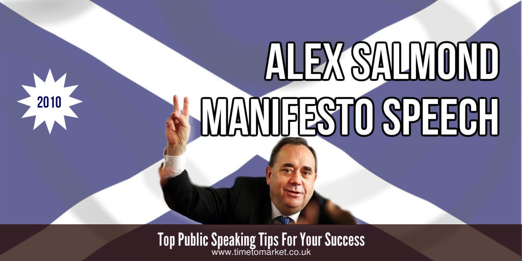 Alex Salmond manifesto speech
