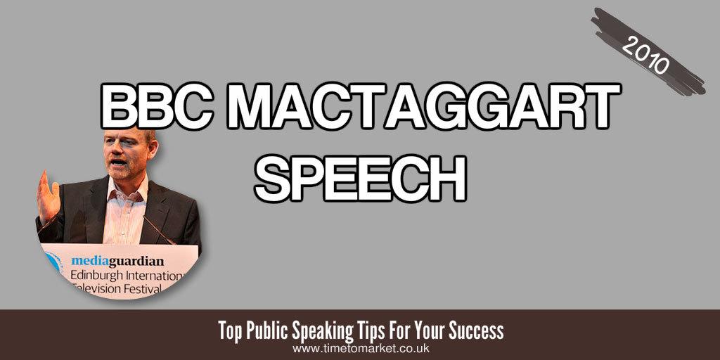 BBC MacTaggart Speech