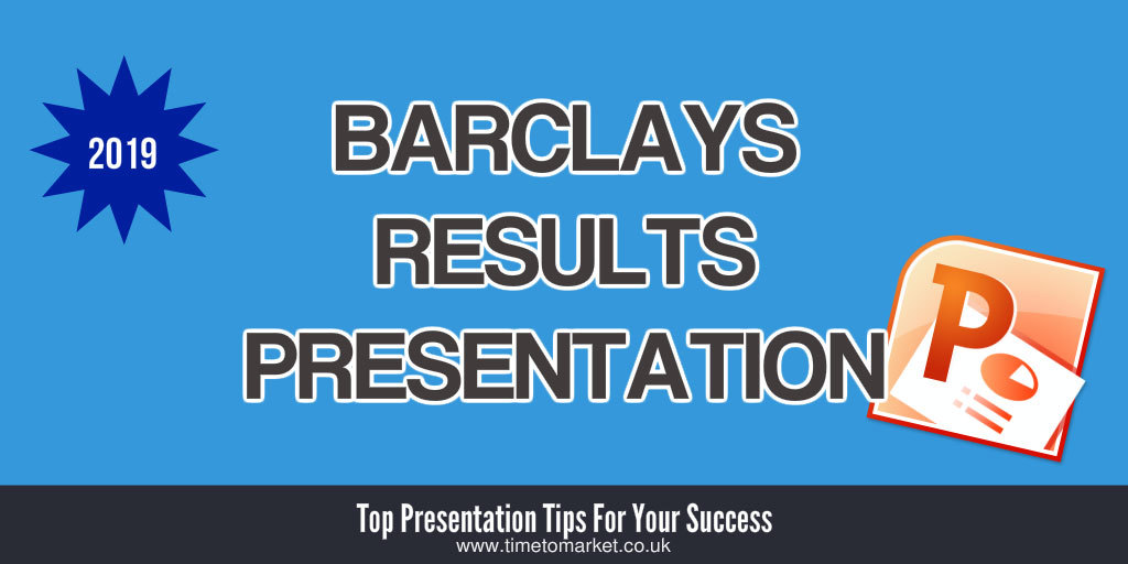 Barclays results presentation