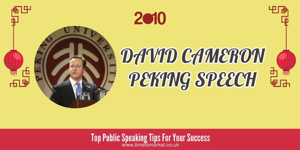 David Cameron Peking speech