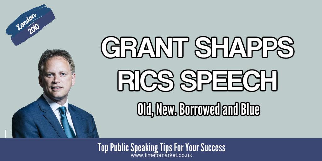 Grant Shapps RICS speech