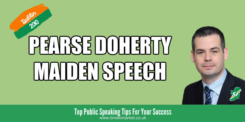Maiden speech by pearse doherty