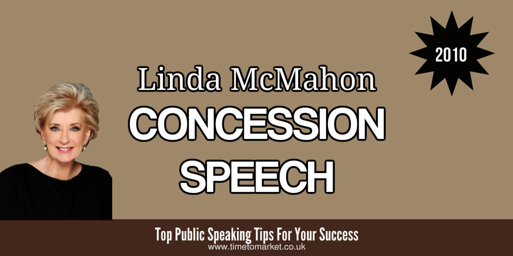 Linda McMahon concession speech