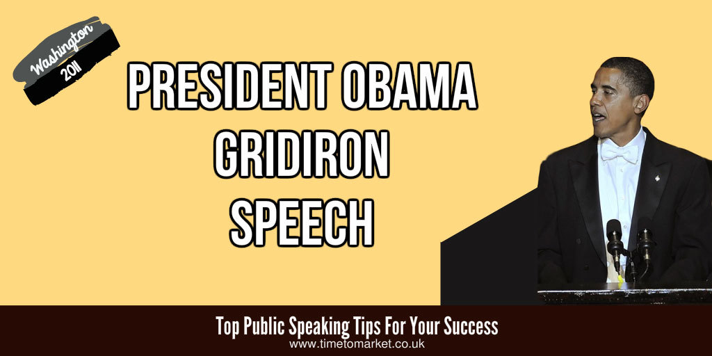 President Obama gridiron speech
