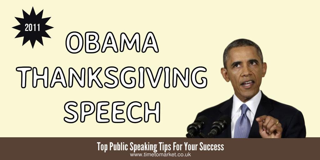 Obama thanksgiving speech