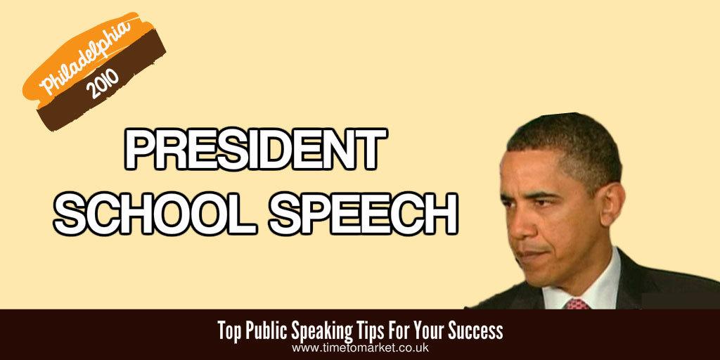 President school speech
