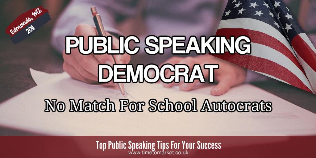 Public speaking democrat