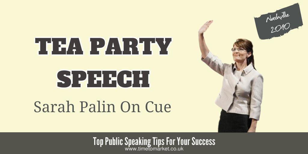 Tea party speech