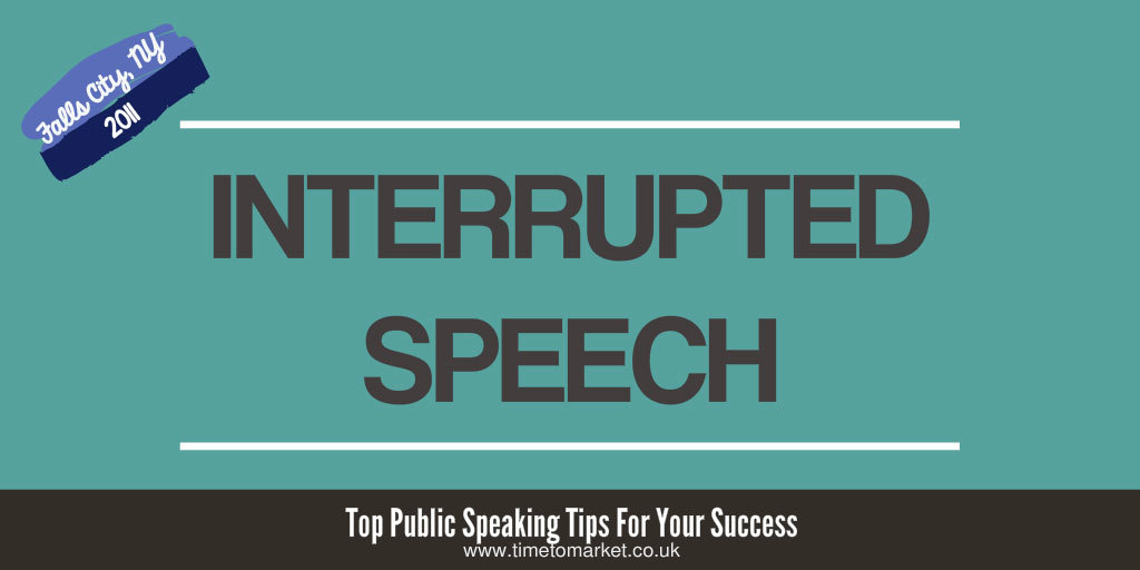 Interrupted speech