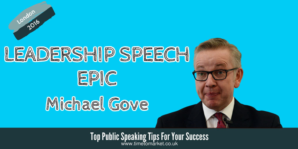 Leadership speech michael gove
