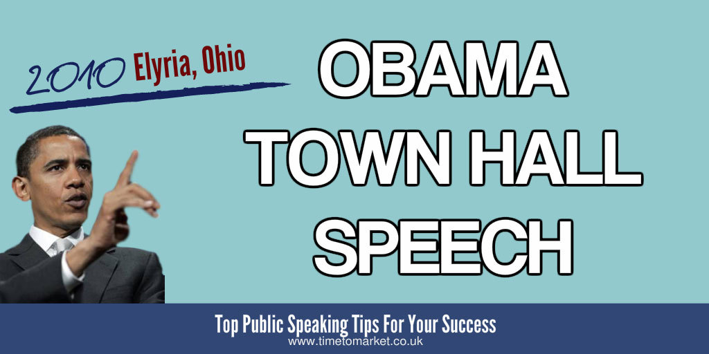 Obama town hall speech