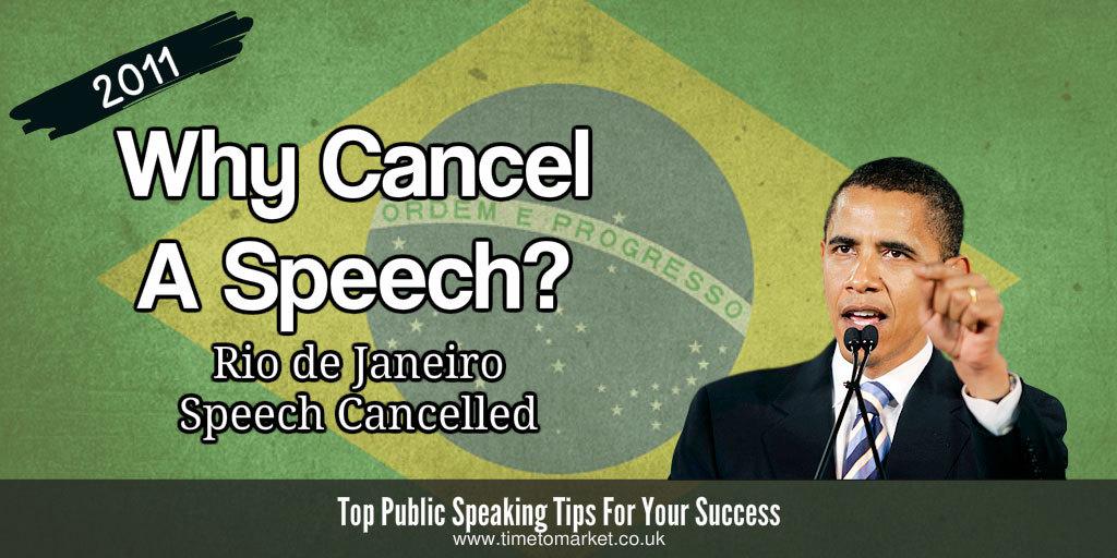 why cancel a speech