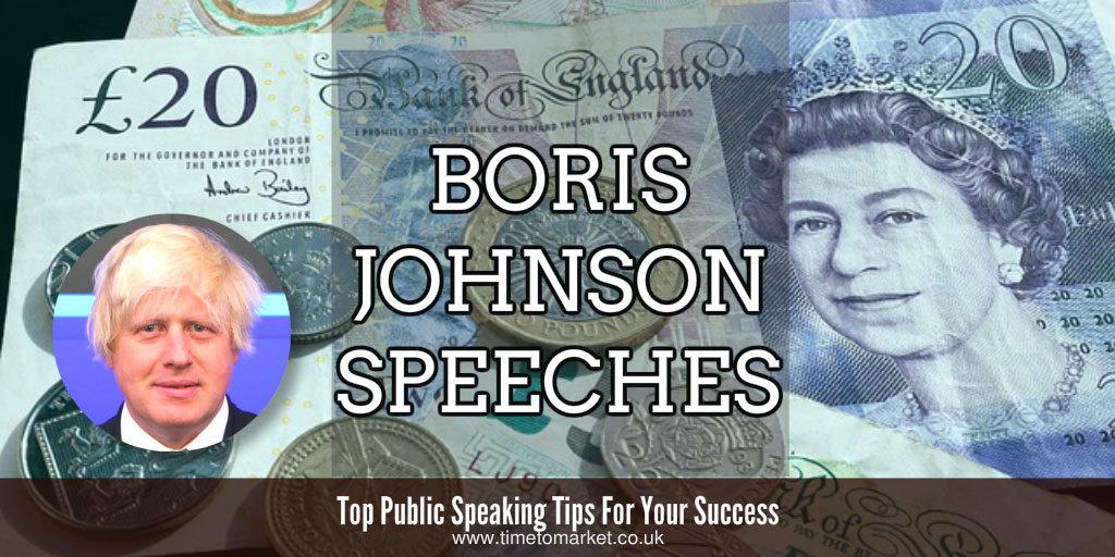 Boris Johnson speeches