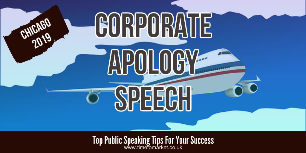 Corporate apology speech