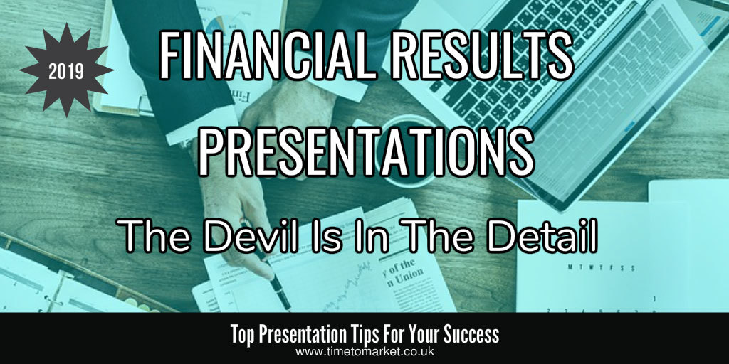 Financial results presentations
