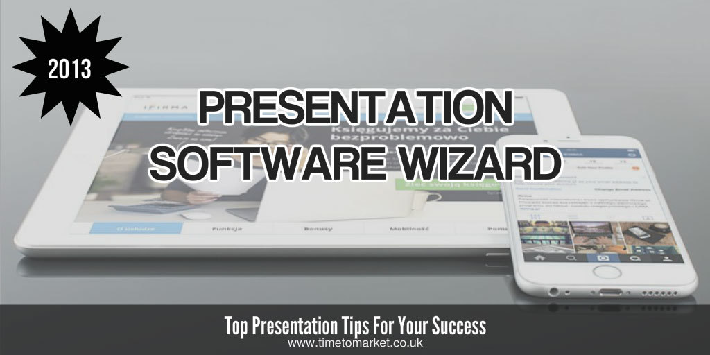 Presentation software wizard