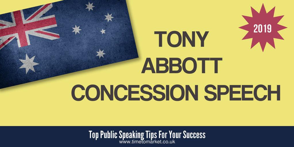 Tony abbott concession speech