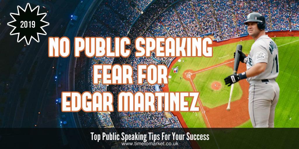 No public speaking fear