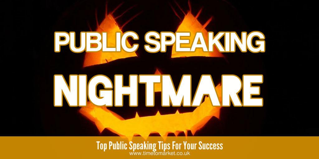 Public speaking nightmare
