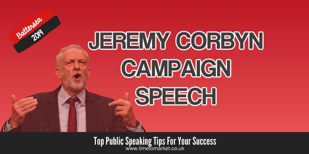 Corbyn campaign speech