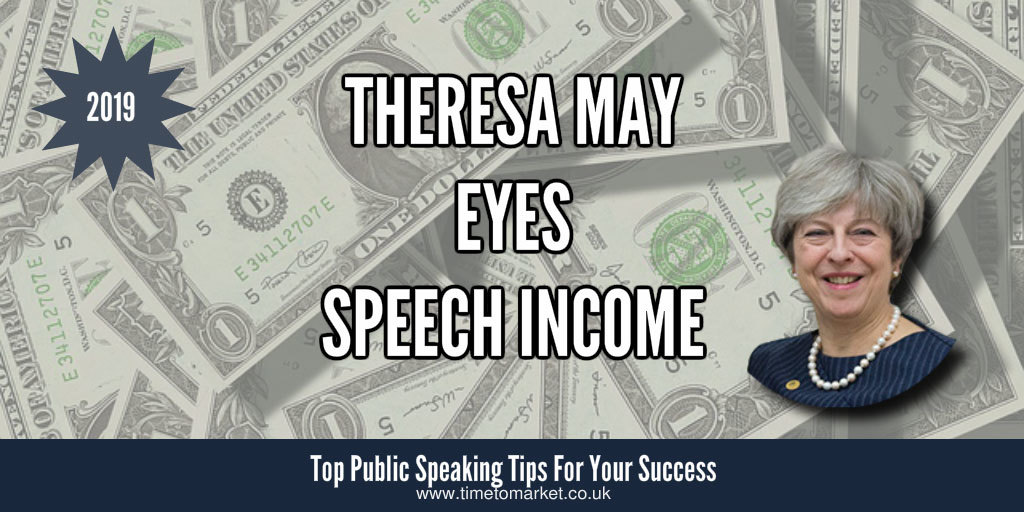 Speech income for Theresa May