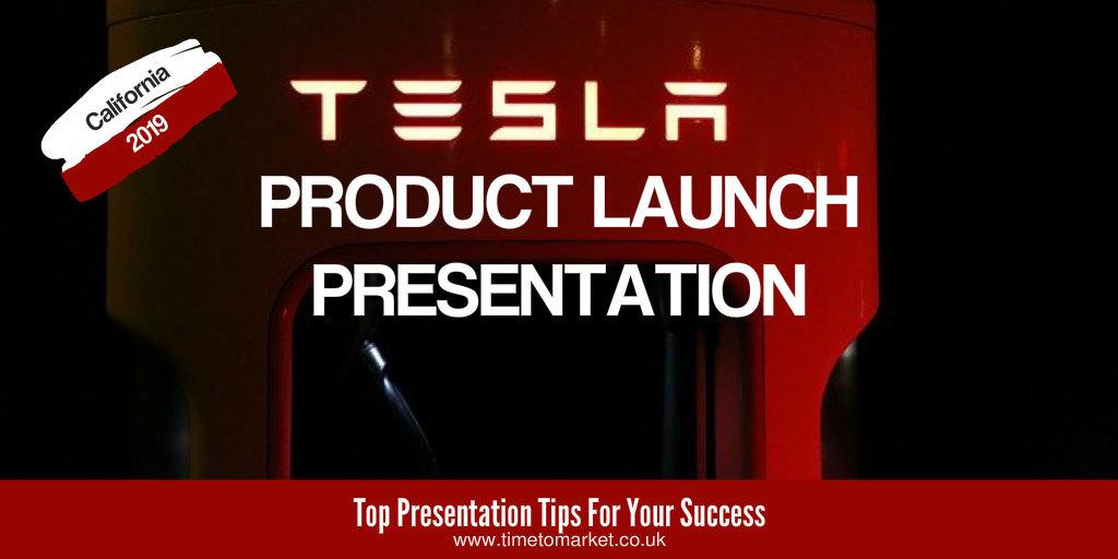 Tesla product launch presentation