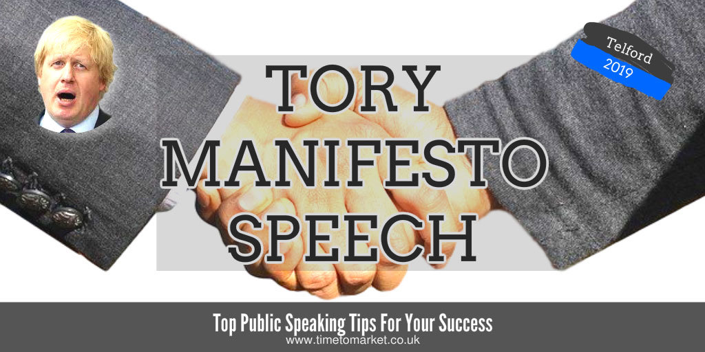Tory manifesto speech