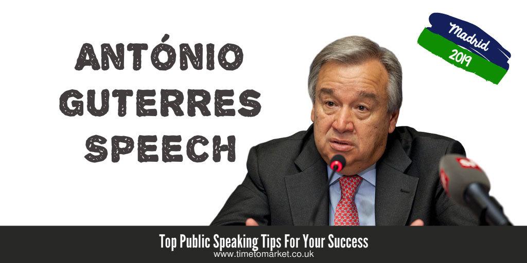 Antonio Guterres speech