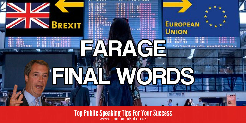 Final words from Farage