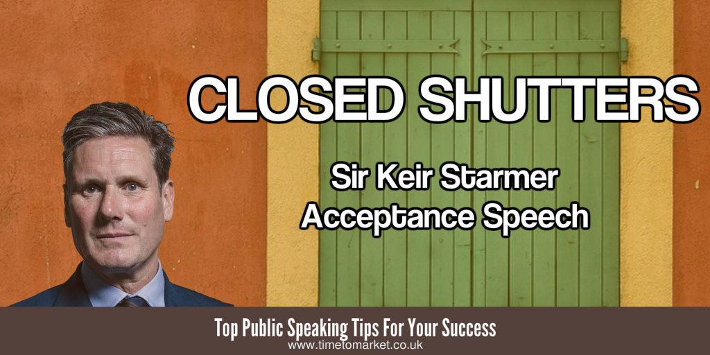 Keir Starmer acceptance speech