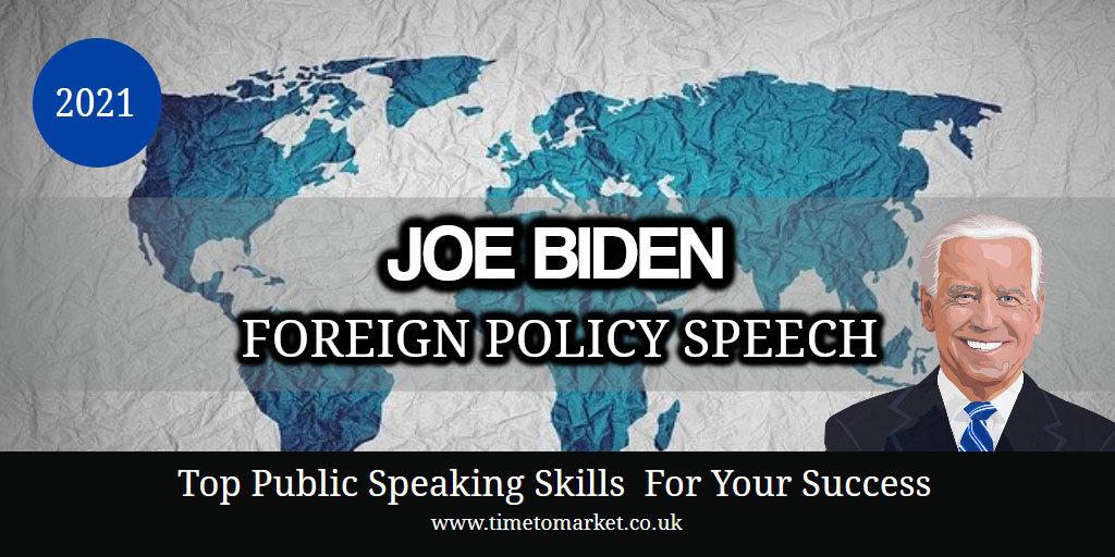 President Biden foreign policy speech