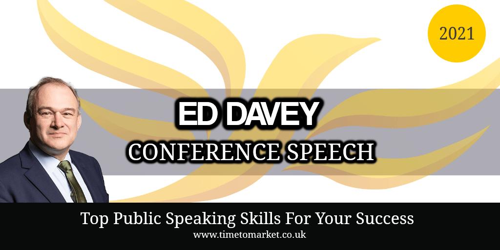 Ed Davey Conference Speech 2021