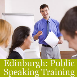 Public speaking course in Edinburgh