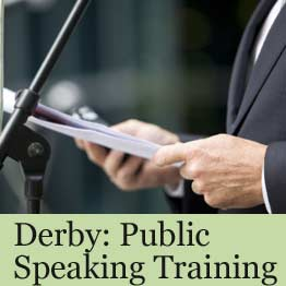 Public speaking training course in Derby