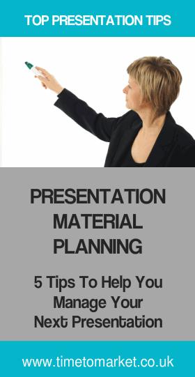 Presentation material planning