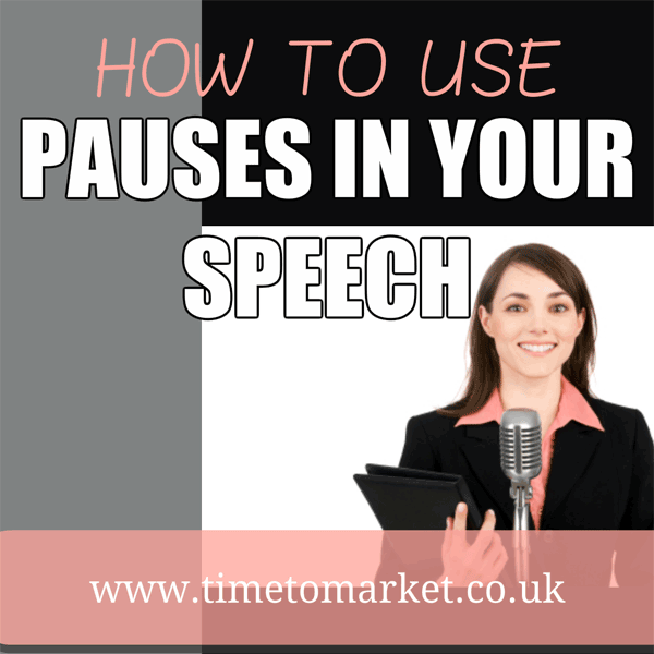 How to use pauses in a speech