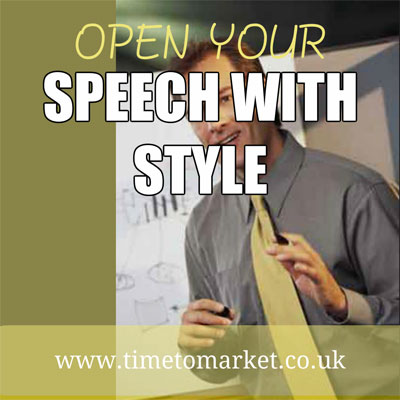 Open your speech with style