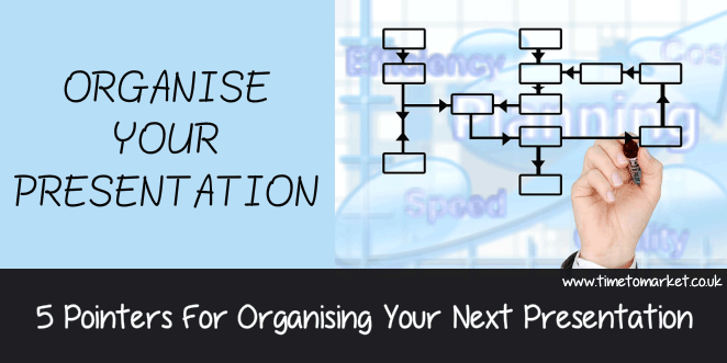 How you can organise your presentations