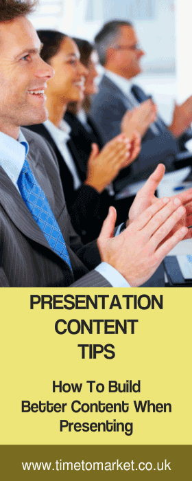 Presentation content tips