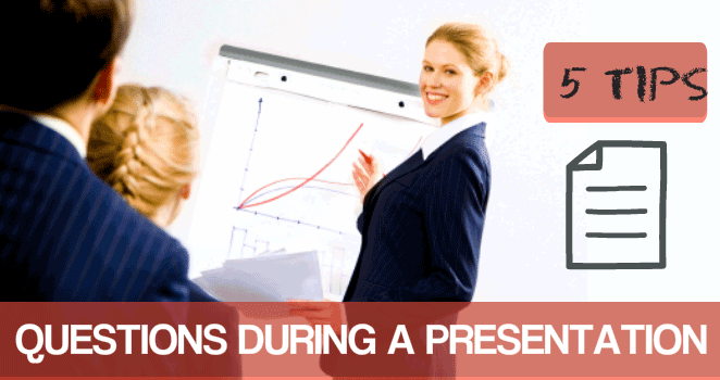 Questions during a presentation