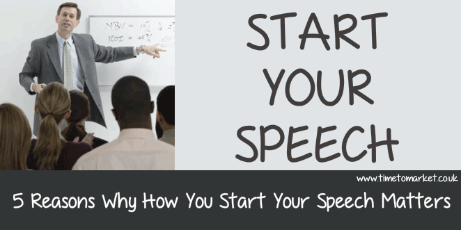 Start your speech