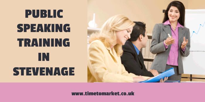 Public speaking training course in Stevenage