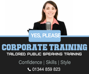 Corporate public speaking training